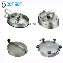 304 and 316 stainless steel round manhole cover