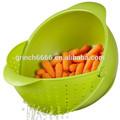 Ensalada recipiente con colador, ensalada recipiente de plástico