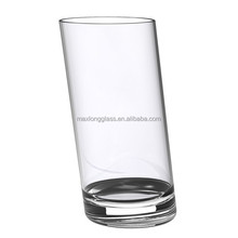 Handmade Slant Collins Glass for juice machine promotion and milk