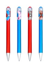 Branded glasses promo ballpoint pens, cheap personalized pens by factory sales