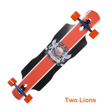 """NEW for 2015!Two Lions 42.5""""x10"""" drop kicktail maple Longboard Complete"""