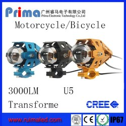 Super Cool Transformers Led Motorcycle Headlight ! U5 Motorcycle headlight! led work light, led bike light, led bicycle light