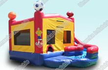 Multi-balls inflatable bouncer slide for sale