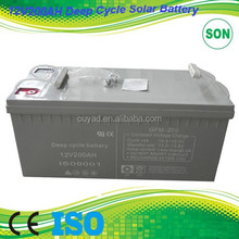 solar deep cycle battery 12v 200ah 12V 200AH Solar Deep Cycle Battery with Best Price and High Quality