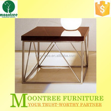 Moontree MST-1111 Top Quality Stainless Steel Legs Living Room Corner Design Table