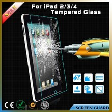 New design tempered glass screen protector for ipad 2 3 4