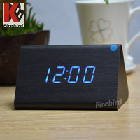 Promotional vintage wall clock nature sounds hotel alarm clock radio