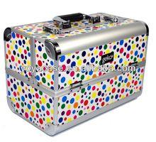 Vanity Case / Makeup Box Polka Dot
