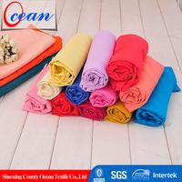Plain Dyed 100% Polyester Crepe De Chine Fabric, Moss Crepe Chiffon Fabric