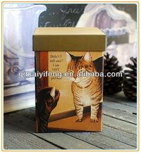 Fresh pattern paper gift box, paper packaging box