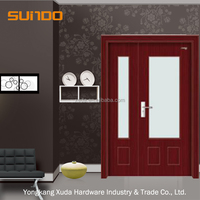 Safety Single or double PVC interior wooden door design