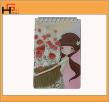 Cartoon Cute Girl With Flower Printing Notebook For Student Stationary