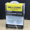 Headphone packing printing plastic box with white inner tray