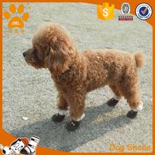 4pcs/set Winter Warm Pet Dog Shoes Soft Fleece Anti-slip Dog Puppy Snow Boots