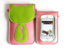 Colorful cross body shoulder bag for coin purse/cell phone shoulder strap bag