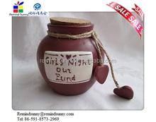 2015 new Pottery Savings Jar Piggy Bank Coin Pot great gift for girls