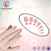 Fengshangmei Nail Supplies Full Cover Tips French Design Nail Tips With Handle&2G Glue