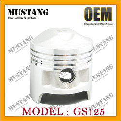 Two stroke engine piston spare parts for GN125 GS125 Suzuki motorcycle