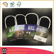 Custom designed paper bag printing,Cheap bag printing in China