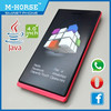 4.0inch low price mobile phone factory wholesale china feature phone with touch screen M-HORSE W1
