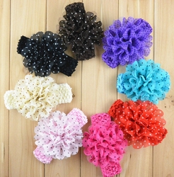 2015 Fashion colorful flower kids hairband baby infant headbands child hair accessories