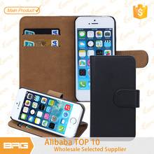 Flip leather case for For apple iphone 5S