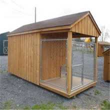 USA and Canada standard size cheap chain link dog kennels with top cover