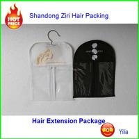 hair extension packaging bag with custom logo / hair bundle packaging