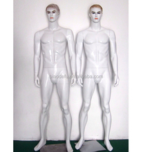 Wholesale high quality Fiberglass Glossy White Male Mannequins