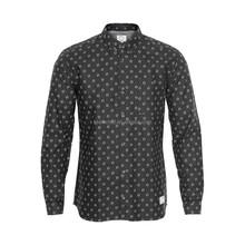 In stock item Mens long sleeve casual shirt stocklot, half price , cotton printed oxford mens shirt stock