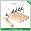 high quality wholesale wooden single locking clip pants hanger