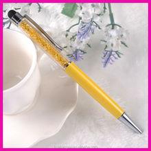 twist writing metal crystal bling stylus filled pen