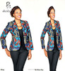 M40714 ladies african print designer tops wax print african jacket blazer from china clothing manufacture