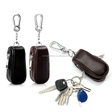 Wholesale fashion leather car key case, leather key ring case