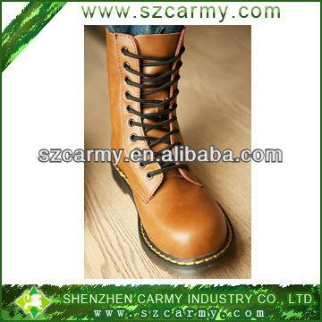 Klasik erkek deri toka botlar, mens tam tahıl deri çizmeler/sakız dış tabanile askeri bot