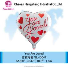 18 inch foil party heart shape balloon