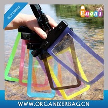 Encai Fashion Summer Mobile Phone Waterproof Pouch For Swimming Transparent PVC Neck Bag For Cellphone