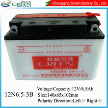 12N6.5-3B Motocycle battery,spare parts of motorcycle,to make magnetic motor permanent