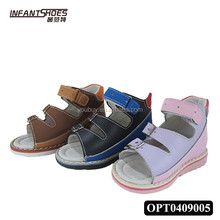 Fasionable and colorful designed orthopedic children shoes with high quality leather made in china