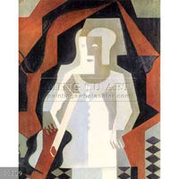 Handmade Juan Gris abstract figure Oil painting, Clown 1 1919