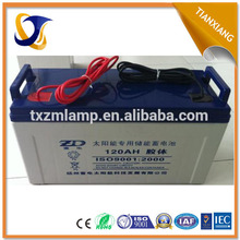 2015 popular in Dubai solar panel gel battery 12v 200ah