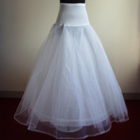 In Stock 2015 Hot Sale 1 Hoop A Line Bone Petticoats For Wedding Dress Underskirt Accessories Slip With Lace Trim
