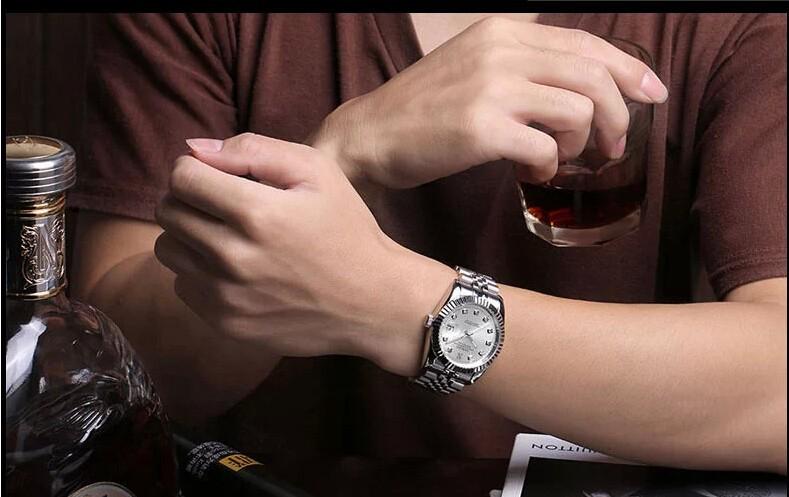38 мм SANGDO Автоматические Самостоятельно Ветер мужчины движения Высокое качество Роскошные часы 2016 новая мода