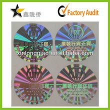 2015 Best Price high quality custom2d 3d shiny laser hologram sticker original