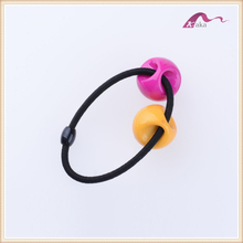 Colored elastic band with metal barbs beaded thick ponytail holder