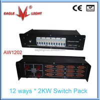12 channels switch pack led dimmer pack from eaglelight