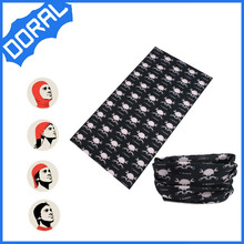 Doral professional factory provide mix black white color skull bandana as gifts to celebrate