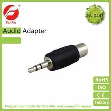 Universal 3.5mm 1/8 stereo plug to RCA jack convertor audio adaptor