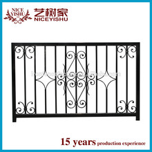 Cheap galvanized wrought iron ornaments fencing designs