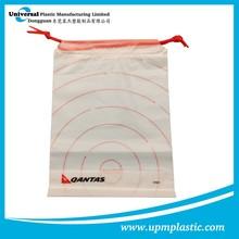 Eco-friendly biodegradable Disposable plastic LDPE drawstring bag